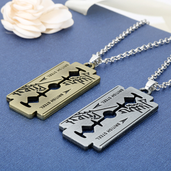 Razor Blade Chain Necklace 1