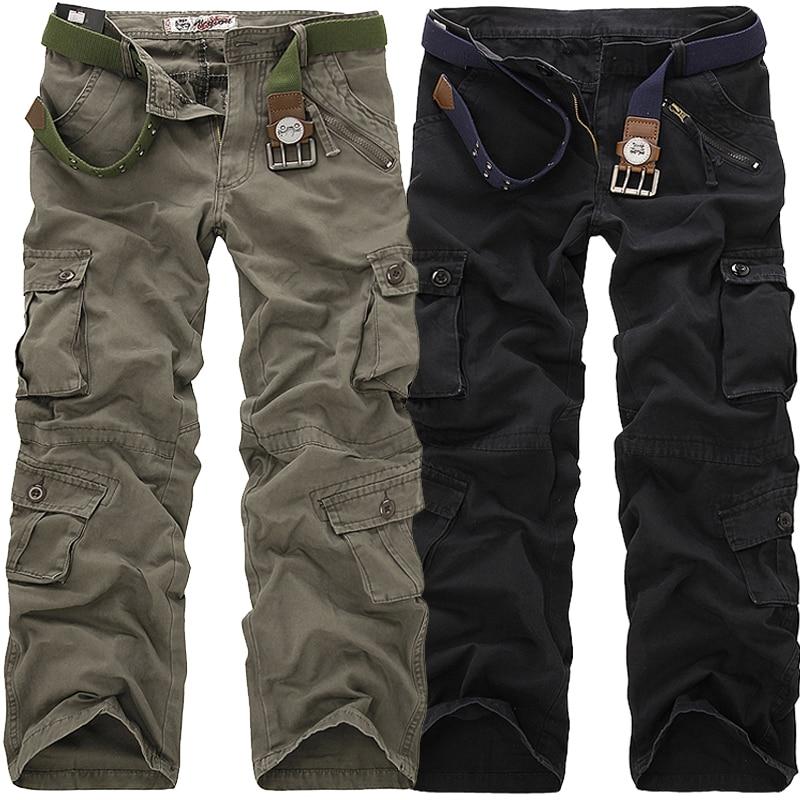 2018 Högkvalitativa herrfraktar Byxor Lösa flera fickor Militära - Herrkläder