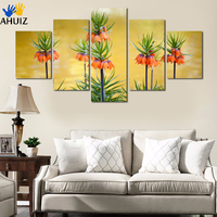 High Definition Prints Bright Flowers On Canvas Decorate Sitting Room Kitchen Art Wall Oil Painting Effect