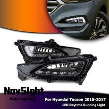 NOVSIGHT белый дневной свет для hyundai Tucson светодиодный DRL дневного света вождения Туман лампа 2015-2017 2016 D25