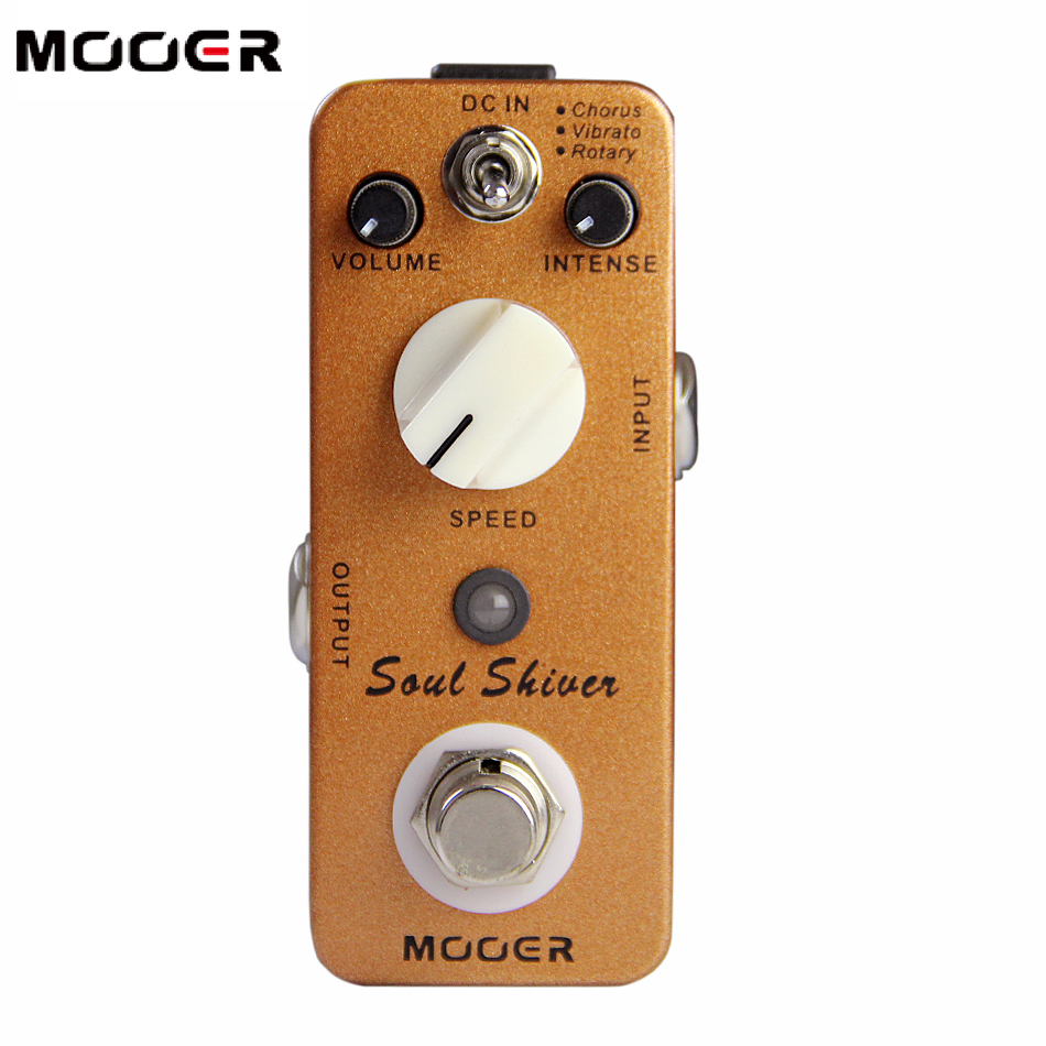 MOOER Micro Series True Bypass Soul Shiver Effects Pedal / Orange Electric Guitar Effectors HOT SALE стоимость