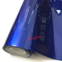 1.52x20m Blue Glossy Colorful DIY Car Body Films Vinyl Car Wrap Sticker Decal Air Release Film