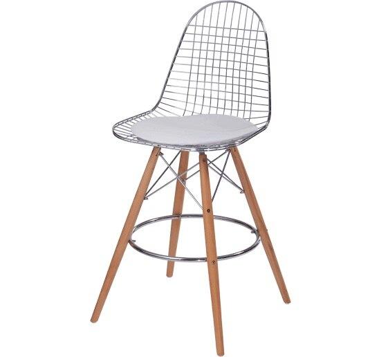 Minimalist Modern Design Metal Steel And Wood Leg Counter