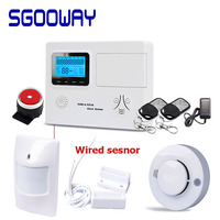 Sgooway Wireless & Wired LCD Alarm GSM +PSTN Smart Burglar Home Security Alarm System with Android/ios APP