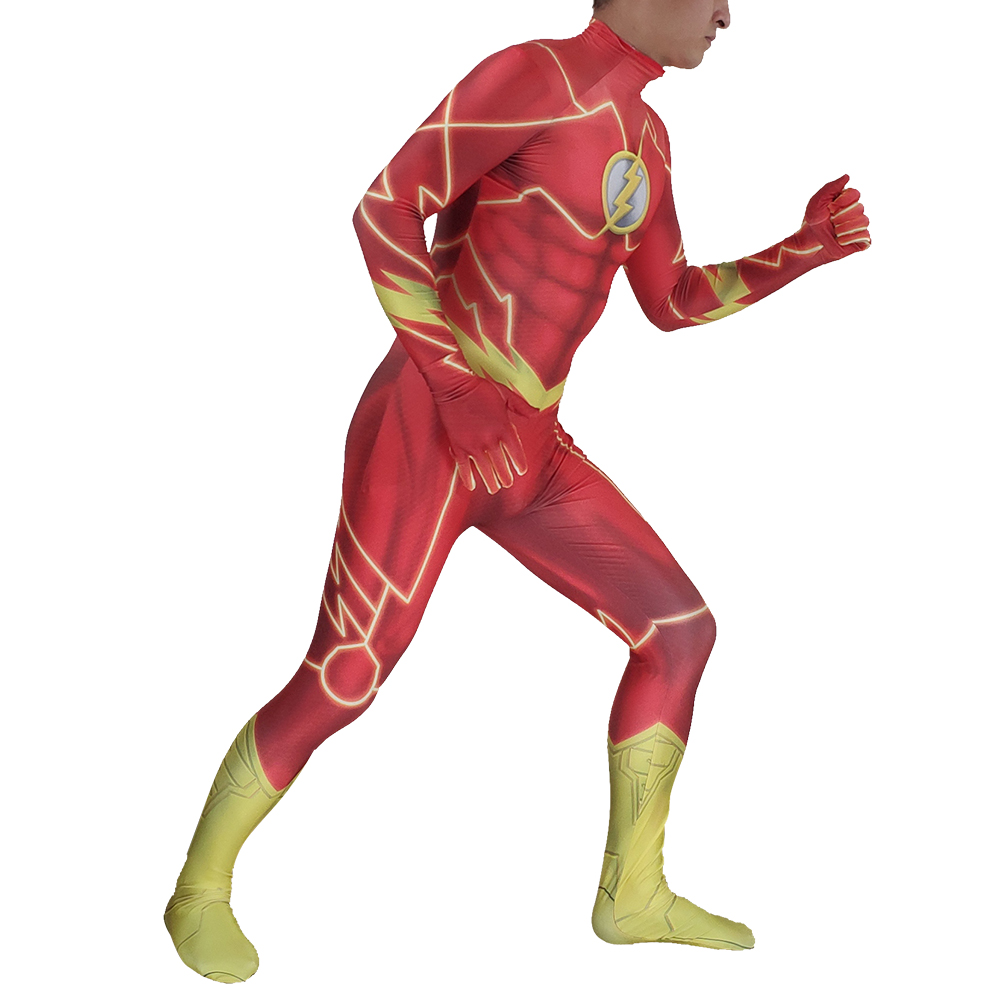 d40c58161a7 Man Magical Fancy Flash Man cosplay costume zentai suit Lycra Spandex  jumpsuit body suit for Halloween costumes free shipping-in Movie   TV  costumes from ...