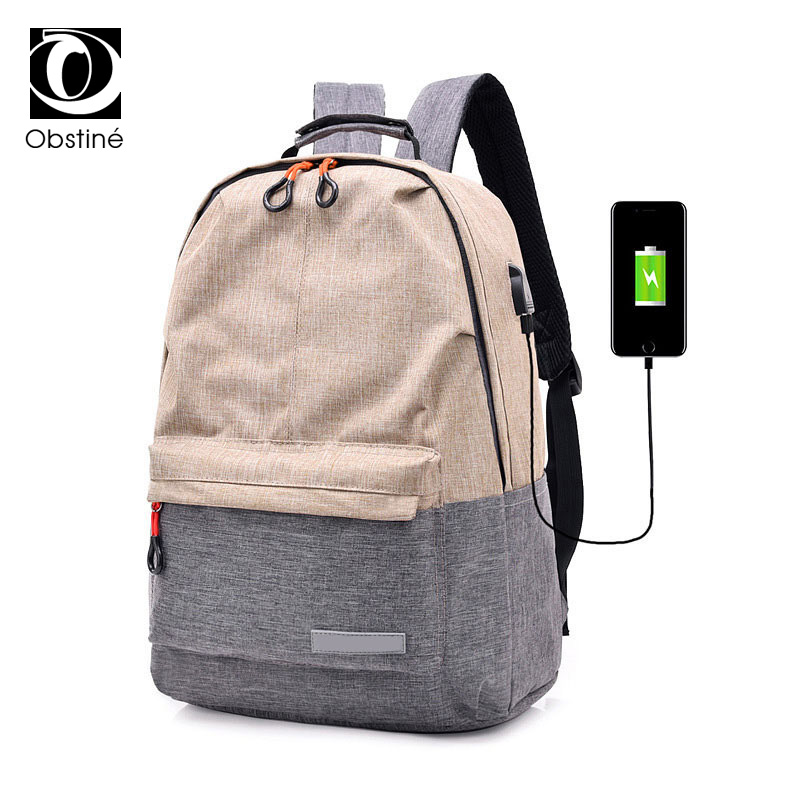 Large Capacity Canvas Backpack With Charging Women's Backpacks For School Schoolbag Fashionable Backpack For Laptop Bagpack Men