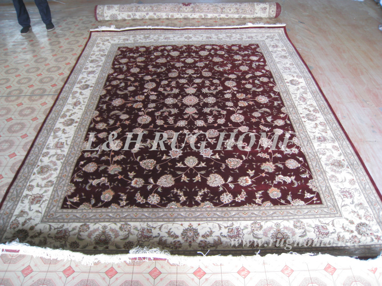 Free Shipping 8 X10 180line Hand Knotted Wool Oriental