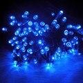 HQ LED Outdoor Solar Cor Poder Iluminação LED Jardim Lâmpadas de Cordas Decoração de Natal De Fadas String Luzes Do Feriado Cordões 100L