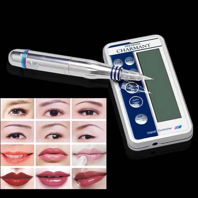 Charmant איפור קבוע מכונת ערכת גבות קעקוע שפתיים אייליינר Microblading עט סט dermografo איפור microblade מכונה