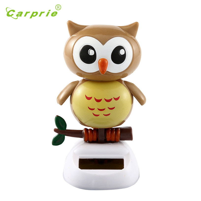 Dropship Hot Selling Cute owl Solar Powered Dancing Animal Swinging Animated Bobble Dancer Toy Car Decor New Gift Jul 31 solar powered head shaking cute hula couple desktop toy