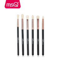 MSQ Makeup Brushes Set 6/8pcs Synthetics Hair Rose Gold Ferrule Make Up Brushes for Eyeshadow