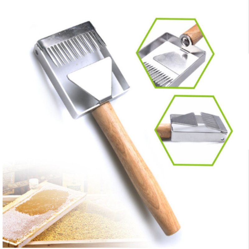 New Type Stainless Steel Wood Uncapping Honey Fork Scraper For Beekeeping