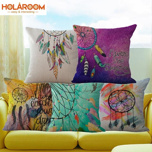 Dreamcatcher Printed Cushion Cover Window Sofa Decorative Pillowcase