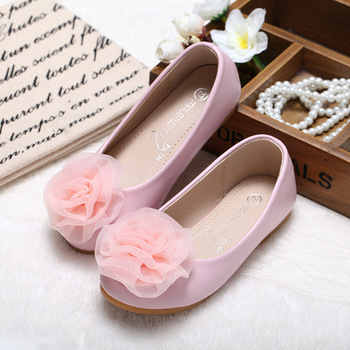 2018 new spring and autunm girls shoes children shoes pink and white Princess female students shoes two colors