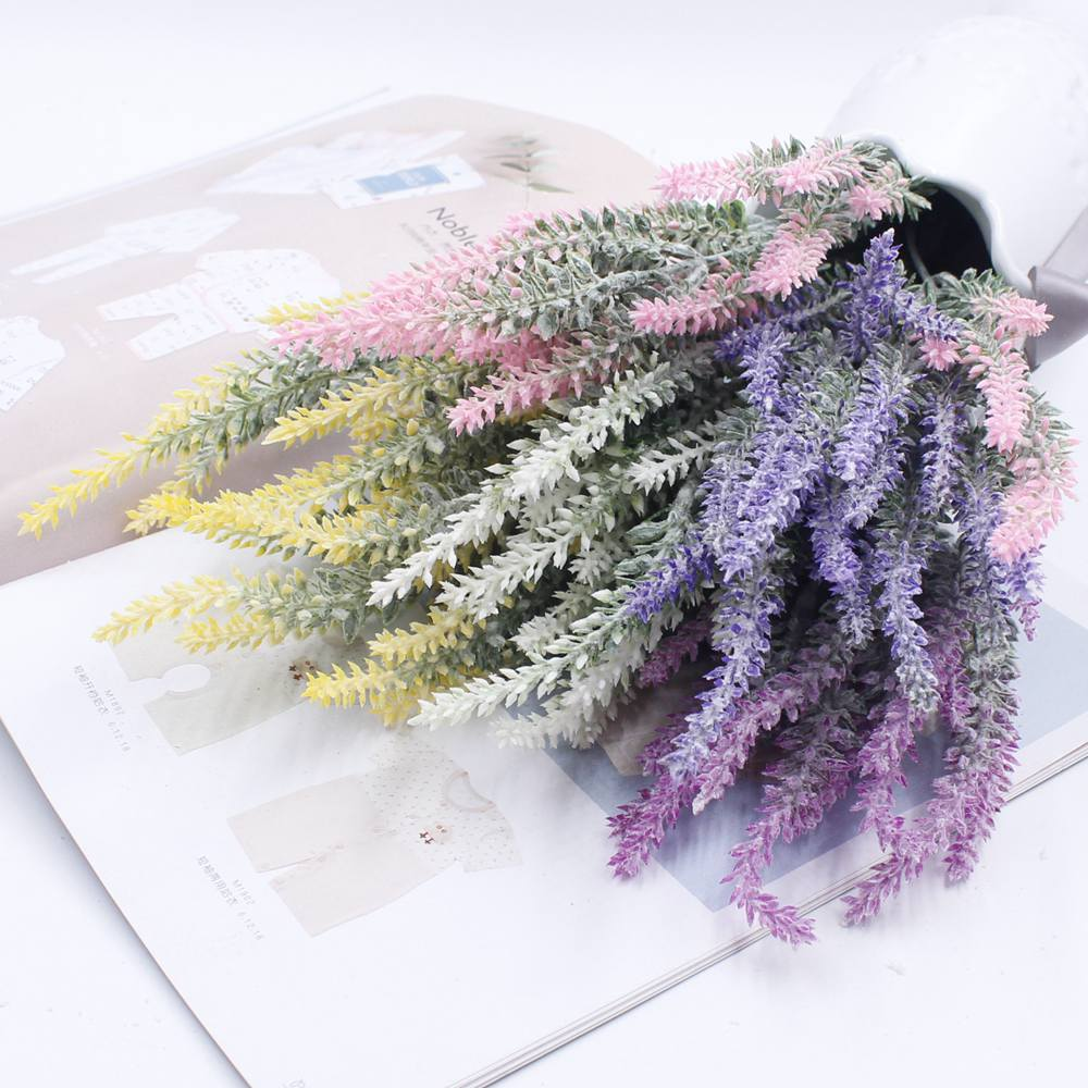 Provence Decoration Us 1 44 20 Off Flower Decoration Artificial Silk Flower Lavender Flowers Provence Decorative Decorative Grain Simulation Of Aquatic Plants In