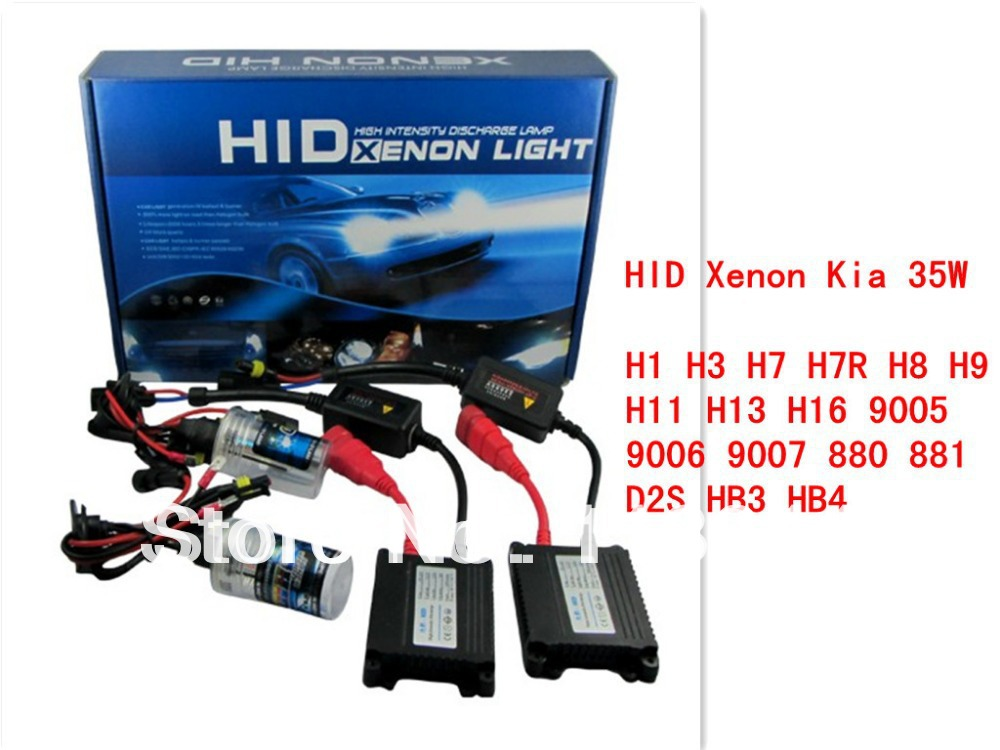 1Set Hid Xenon H1 H3 H7 H7R H8 H9 H10 H11 H16 9005 9006 H27 Single beam HID KIT SET 35W HID XENON SYSTEM hid conversion kit