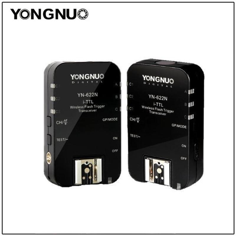 Yongnuo YN-622N YN622N I-TTL Wireless Flash Trigger Transceivers for Nikon D7000,D90,D5200,D5100,D3100,D3000 SB700 SB800 SB900 yongnuo yn 565ex n flash speedlite yn565ex n i ttl light for nikon dslr camera or pixel vertax d17 battery grip for nikon d500