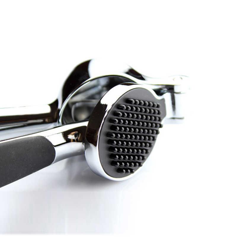 الفولاذ المقاوم للصدأ 304 # اليد السريعة ضغط الثوم الزنجبيل presses كسارة دليل المطبخ أداة تقشير الثوم جهاز شحن مجاني