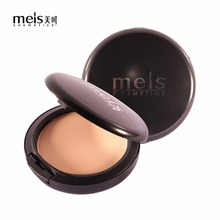 MEIS Natural Face Powder Mineral Foundations Oil-control Brighten Concealer Whitening Make Up Pressed Powder With Puff MS0164