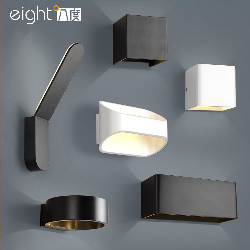 Modern simple wall lamp nordic style wall light for living Contemporary wall sconces for living room