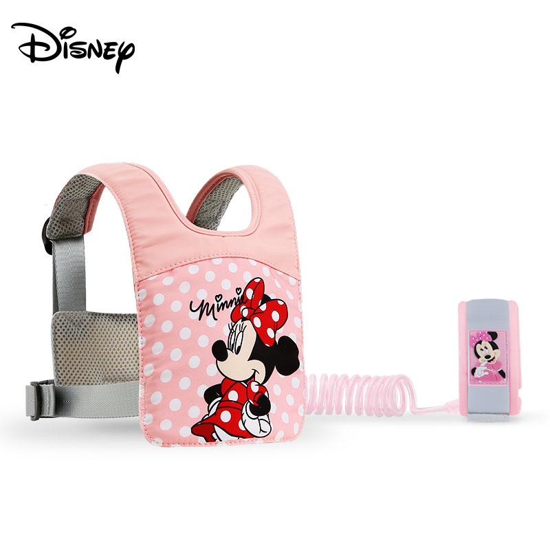 Disney Safety Lock Anti-Lost Updated Wrist Link Toddler Leash Harness Outdoor Walking Hand Belt Wristband Baby Strap Rope