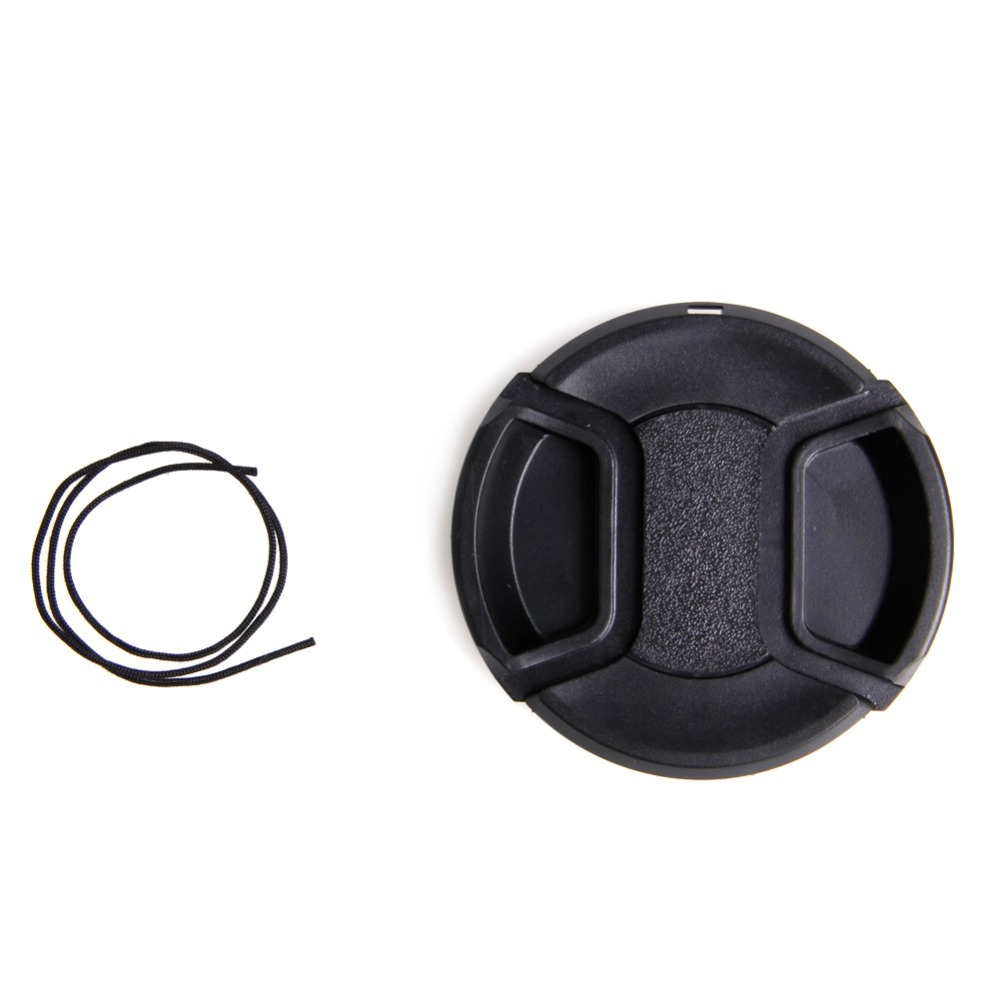 1Pc New <font><b>58</b></font> <font><b>mm</b></font> Center Pinch Snap on Front <font><b>Lens</b></font> <font><b>Cap</b></font> for Canon Nikon Sony With String image