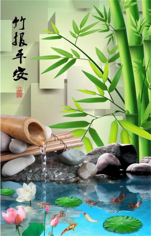 Custom Photo 3d Wallpaper Mural Non Woven Bamboo Reported