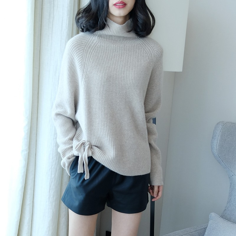 LHZSYY New Autumn winter loose high collar Cashmere Sweater soft cozy solid women 39 s high quality Sweaters fashion Wild pullove in Pullovers from Women 39 s Clothing
