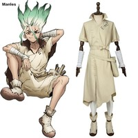 Anime Dr. Stone Costume Senku Ishigami Cosplay Senku Adult White Male Full Set Custom Halloween Christmas Carnival Party