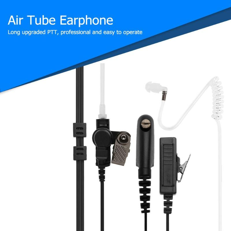 High Quility Air Tube Earphone With Microphone PTT Headset For Motorola CB Radio GP328 GP380 PRO5150 HT750 GP340 Walkie Talkie