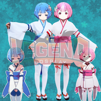 Cosplay Legend Re0 Re Life A Different World From Zero REM Cosplay Adult Costume Full Set