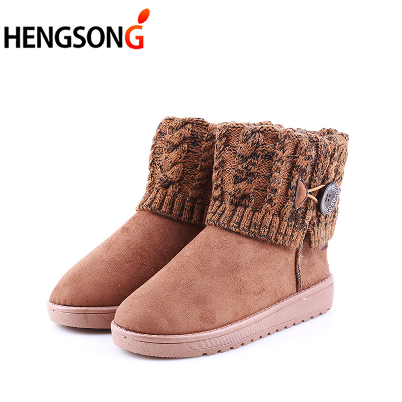 Female Women Snow Boots Slim Winter Boots Fashion Ankle Boots For Female Flat Botas Women Winter Warm Shoes DP930307 winter women snow boots fashion footwear 2017 solid color female ankle boots for women shoes warm comfortable boots