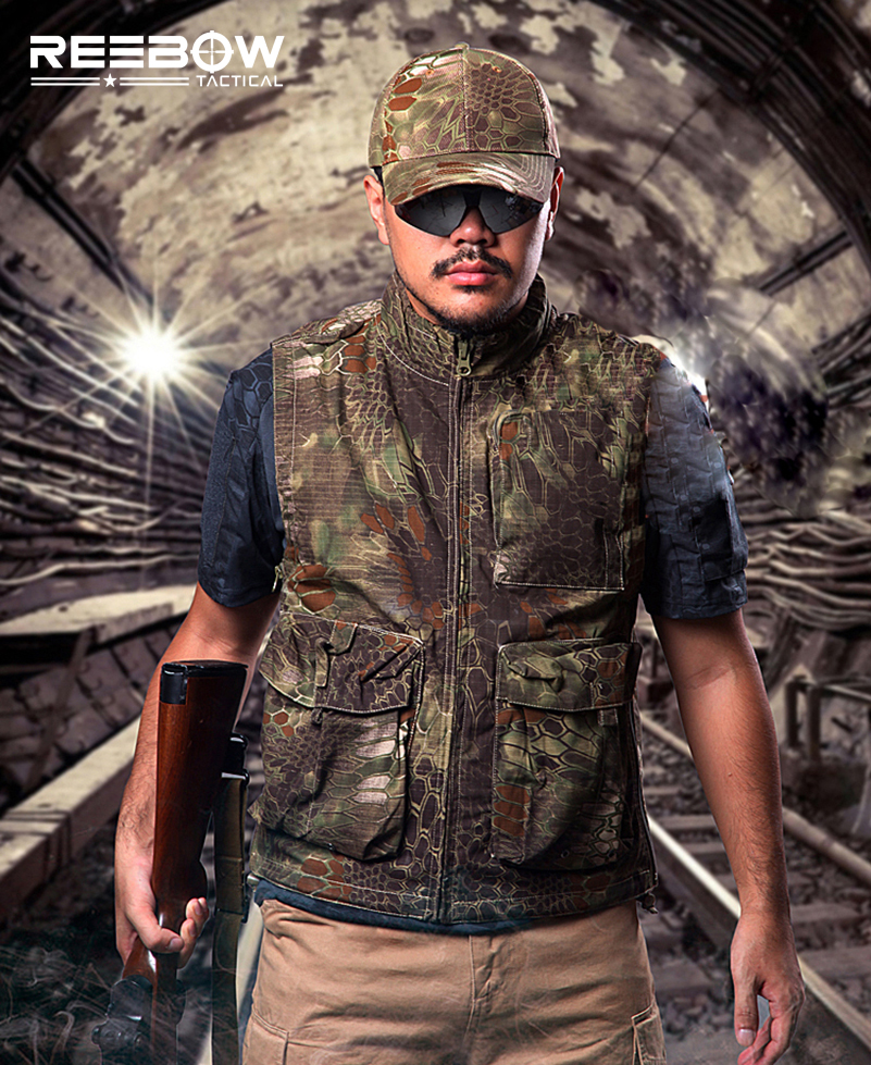 Tactical Military Fans Outdoor Airsoft Paintball Shooting Vest Rattlesnake Camouflage Multi-functional Garments Assault Combat мультиварка scarlett sc mc410s14 серебристый белый sc mc410s14
