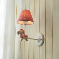 Nordic Small Fresh Pony Wall Lamps Simple European American Girl Children's Room Sconce Wall Lights And Lanterns Lamp