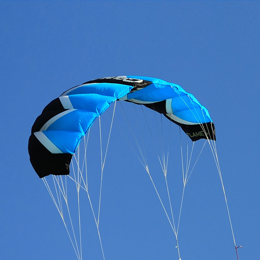 2Sqm Stunt Kite Quad Lines Parafoil Parachute Traction Kite Sport Power Kite with 55CM Bar Flying Line