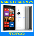 "Original abierto de nokia lumia 925 windows8 os teléfono móvil dual core 4.5 ""wifi gps 1 gb ram 16 gb rom 8mp nokia 925 smartphone"