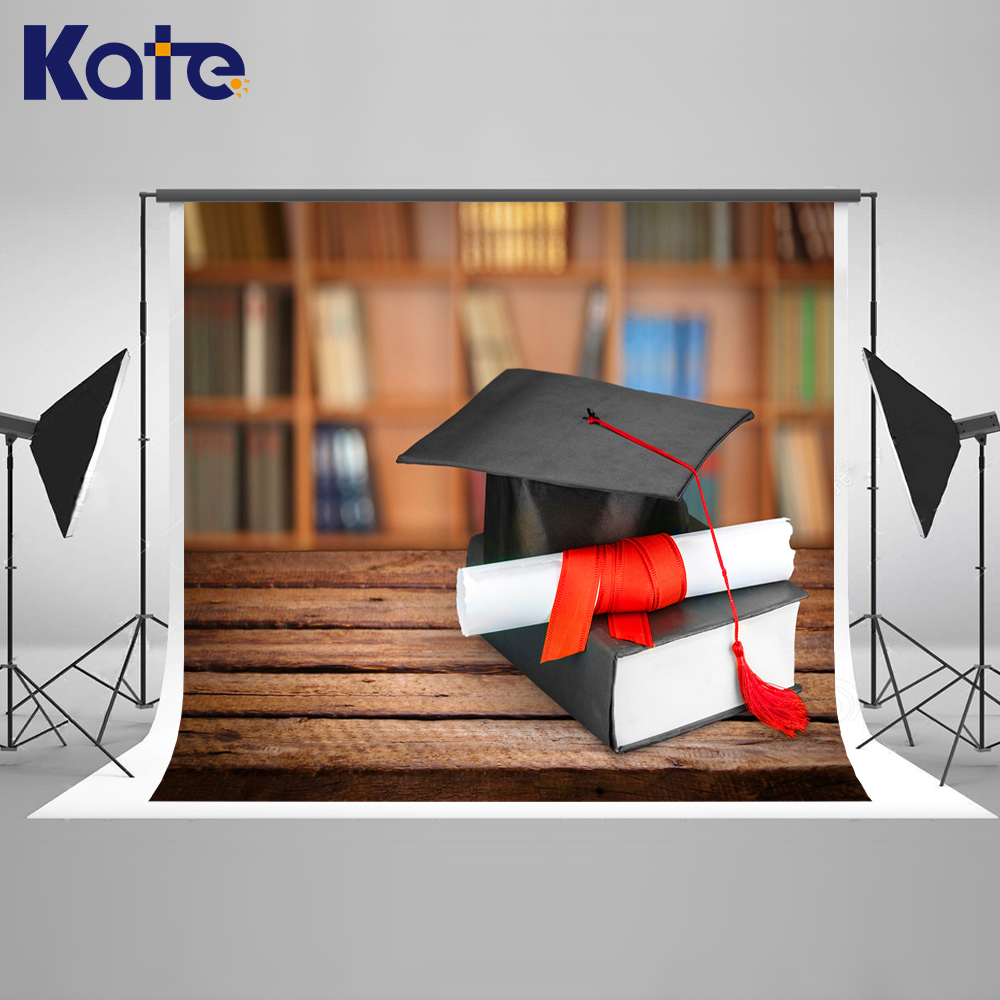Kate 7x5ft / (2.2x1.5m) Photography Backdrop Bachelor Back to School Graduation Photo Background for Kids Photography Studio kate 7x5ft photography backdrops floors bookshelf books retro back to school photo background photocall for kids fond studio
