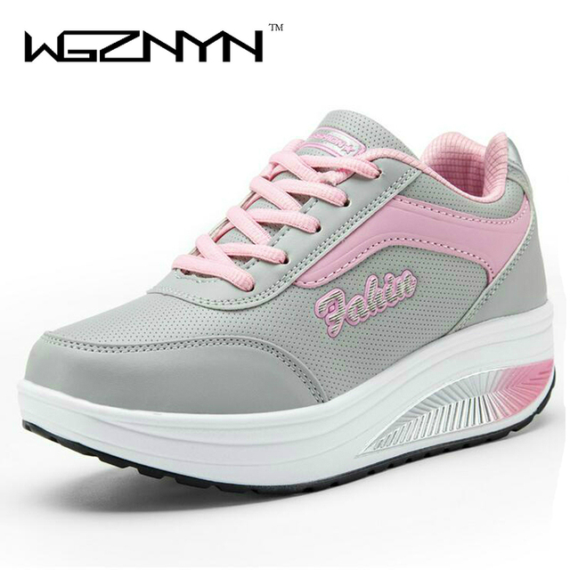WGZNYN 2017 New Summer Zapato Woman Breathable Mesh Zapatillas Shoes For Women Network Soft Casual Shoes Flats EUR Size 35-40