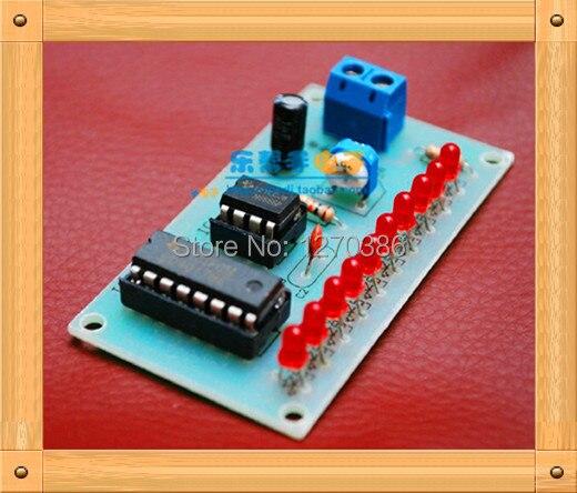 Free Shipping!!! 5pcs NE555 CD4017 light water / pcb circuit production suite / DIY electronic kits (parts)