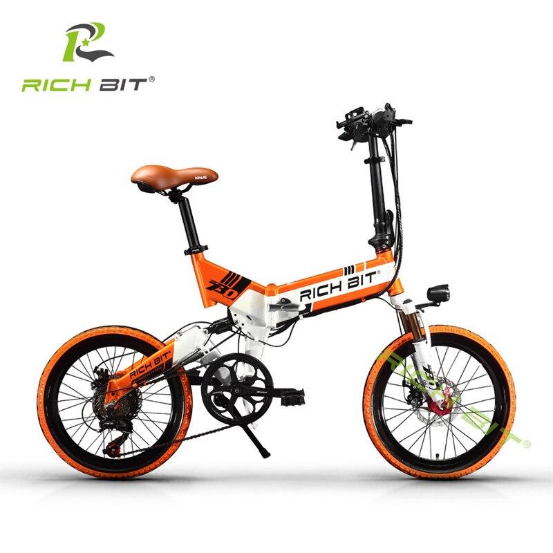 RichBit Mtb ebike 48 V 8AH Baterai Tersembunyi Lipat Sepeda Listrik 7 - Bersepeda - Foto 3
