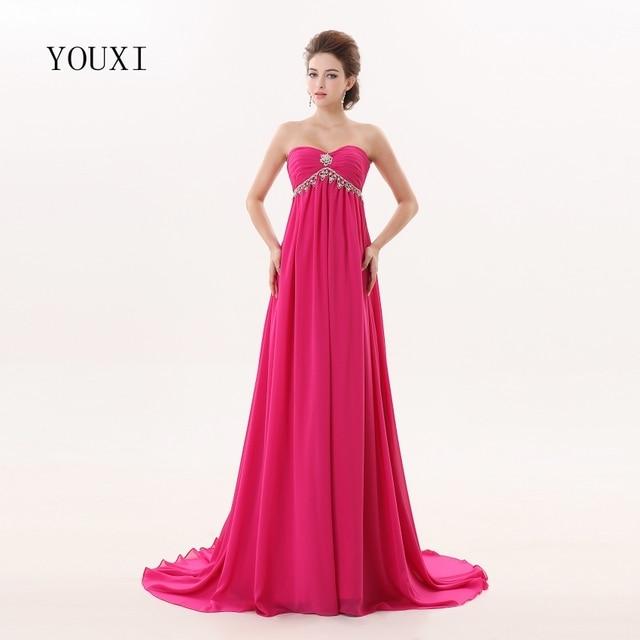 Sexy Sweetheart Fuchsia Prom Dresses 2017 Floor Length Formal A Line