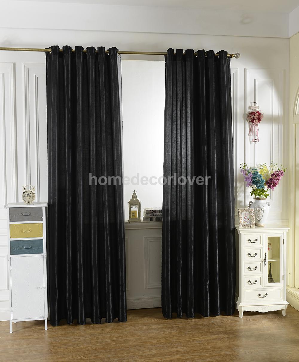 100x250cm Modern Jacquard Window Shade Curtain Room Drape Blind Punch