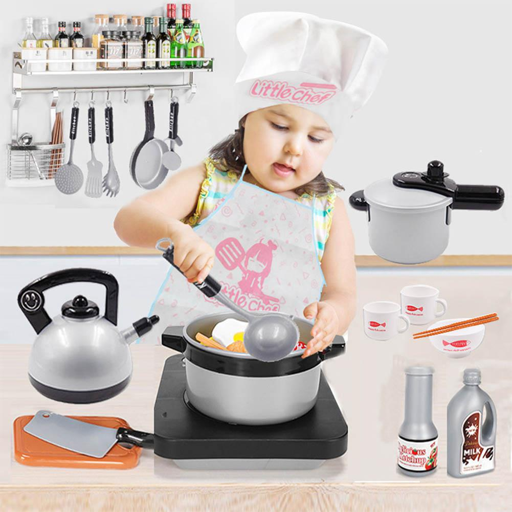 Children Simulation Kitchenware Automatic Circulation Sink Pretend game Small Tableware Toy Set in Kitchen Toys from Toys Hobbies