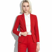 fashion Pants suit Women suit fashion temperament noble quality two-piece white-collar clothing jacket + pants woman suit