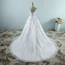 Wedding-Dresses Crystal Flower Sweetheart Lace Brides White Plus-Size Fashion for 2-26W