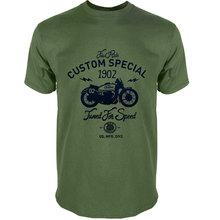 100% COTTON t-shirt short sleeve special print men