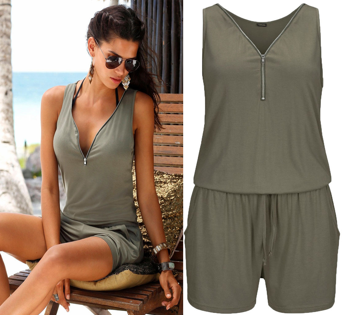 Women Summer Rompers Jumpsuit Beach Casual Playsuits Plus Size Jumpsuit For Women 2020 Beach Shorts Pants 5XL Sleeveless