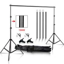Фото Видео Студия фоновая стойка, регулируемая телескопическая система поддержки фона с сумкой для переноски для свадьбы