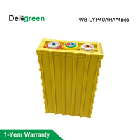4pcs 12V LiFePO4 Battery Pack Winston 40AH 3.2v rated lithium ion battery pack for electric Vehicle building