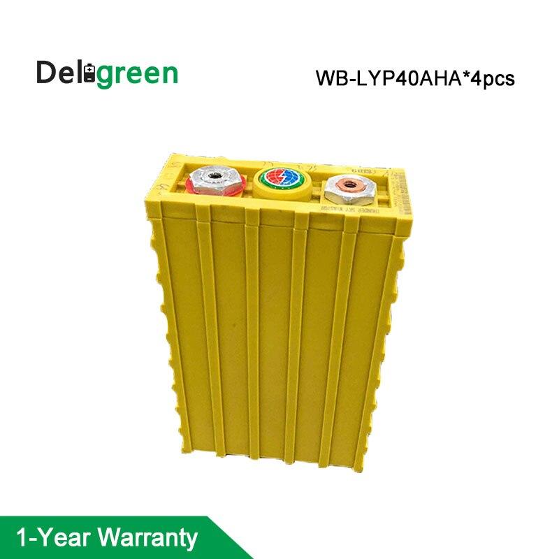 Paquet de batterie de 4 pièces 12 V LiFePO4 Winston 40AH 3.2 v évalué paquet de batterie d'ion de lithium pour la construction de véhicule électrique